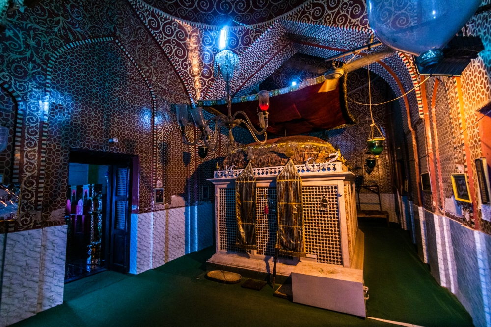 Fig. 7:A replicated zarih of Imam Hussain (a.s.) inside Karbala Dayanat-ud-Daulah in Lucknow