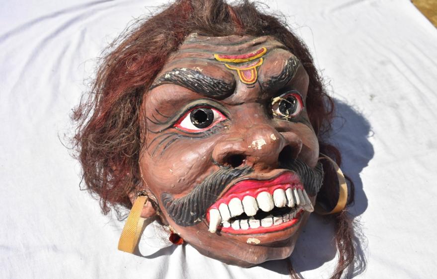 Fig. 2: Mukh mukha of a demon. Courtsey: Akhyai Jyoti Mahanta