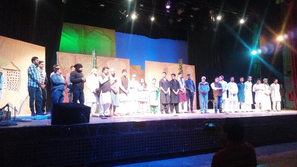Fig. 2:Asgar Wajahat's seminal drama portraying the human tragedies born out of Partition,Jis Lahore Nahi Vekhya O Janmiya Hi Nahiwas staged by Ranglok group in Soorsadan auditorium of Agra on February 3, 2018