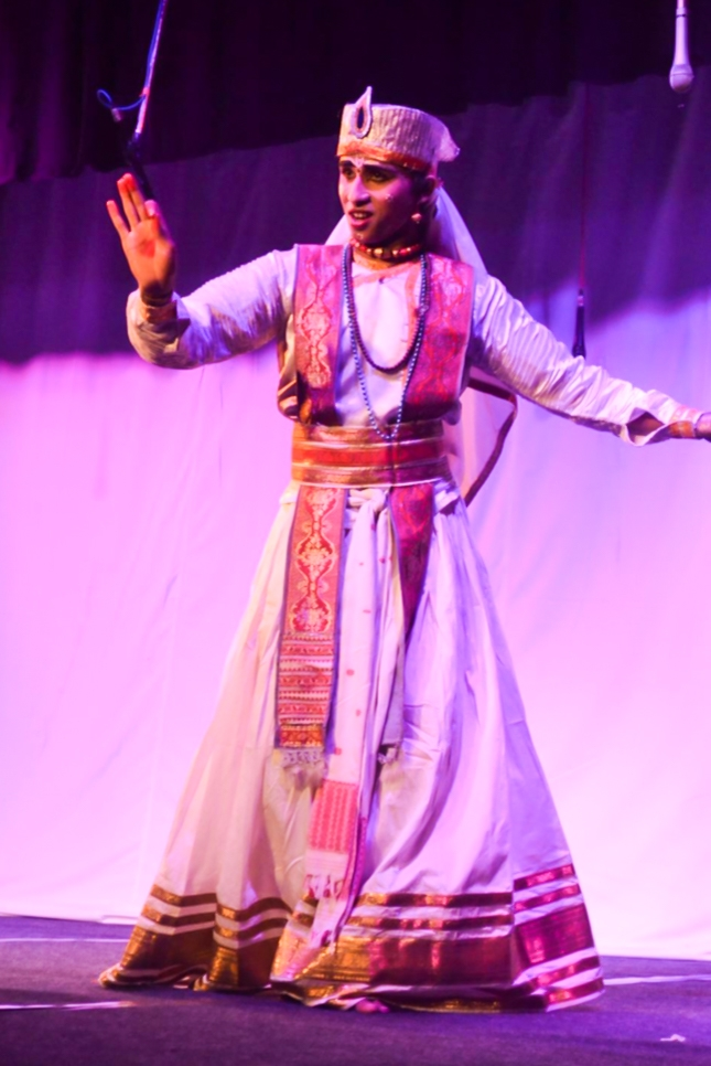 Fig 3: A bhakat performing Sattriya. Courtesy: Abismrita Chakravarty