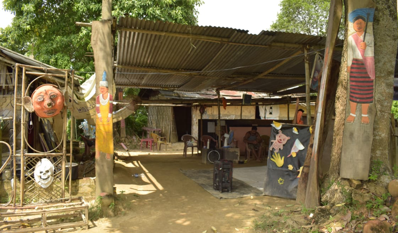Fig 5: Residency and practice space, Replica Theatre Village. From its humble beginnings, Replica is now a two-decade old theatre group for which over 400 performers have performed at different periods. (Courtesy: Mithu Biswas)