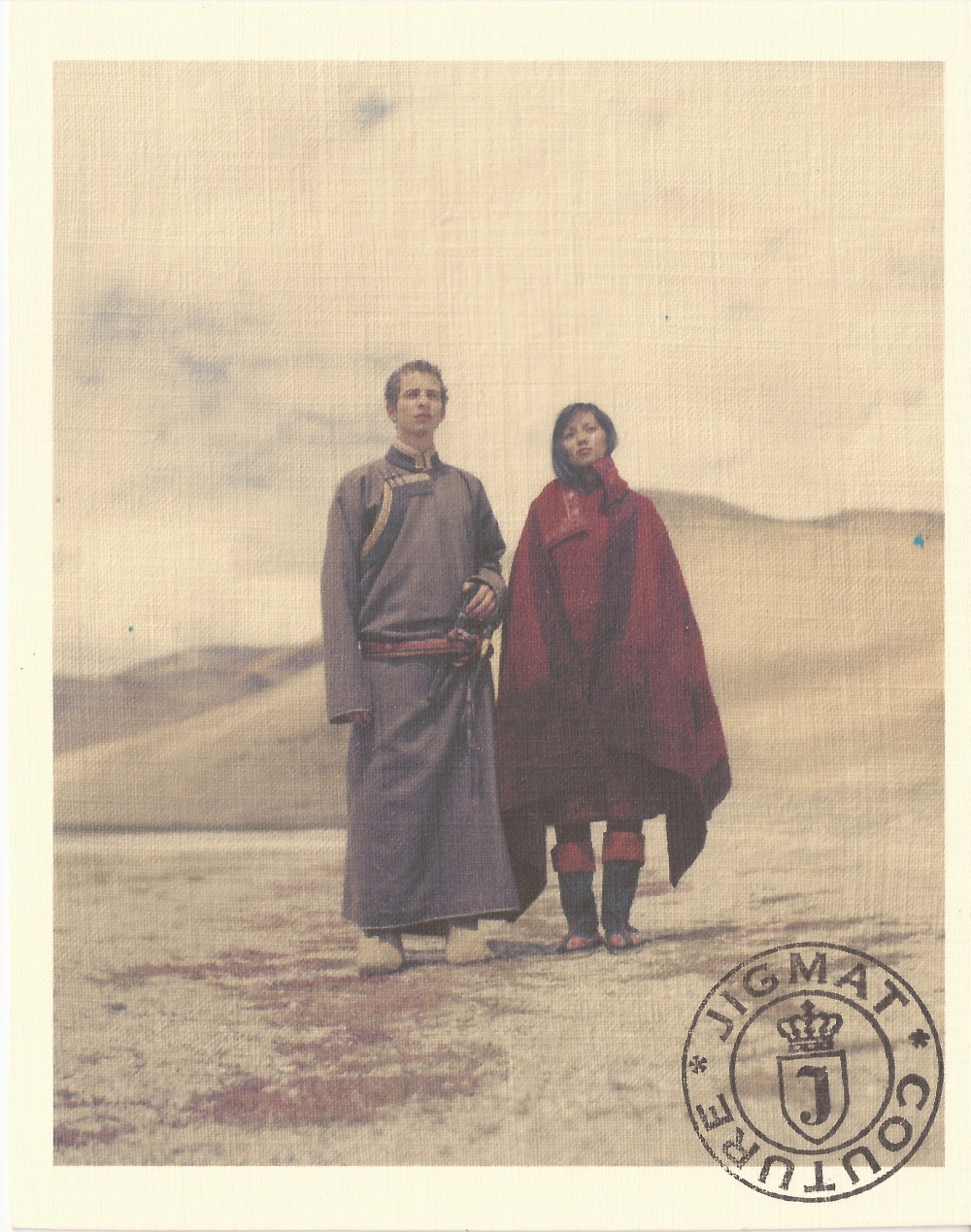 A contemporary creation by the husband and wife team of Jigmat Norbu and Jigmet Wangmo, based on traditional style (Photographer: Sebran D'Argent; Courtesy: Jigmat Couture, 2012-13).