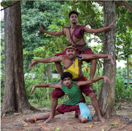 Fig. 6: Theatre in nature—a moment from the play Bedbug (Courtesy: Mithu Biswas)