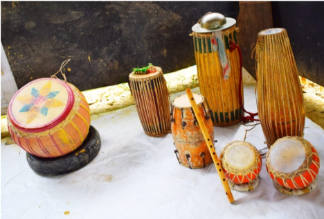 Fig. 7: Folk instruments used in Replica's performances (Courtesy: Mithu Biswas)