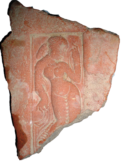 Fig. 4. Terracotta tile depicting a woman, Semthan (Courtesy: Private collection)