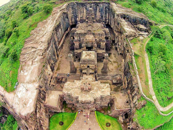 Fig.1.Kailasha Temple complex, aerial view. (Courtesy: Nikita Rathore)
