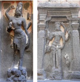Fig.10.Natesha, garbhagriha, east hall (left); south hall. (Courtesy: Nikita Rathore)