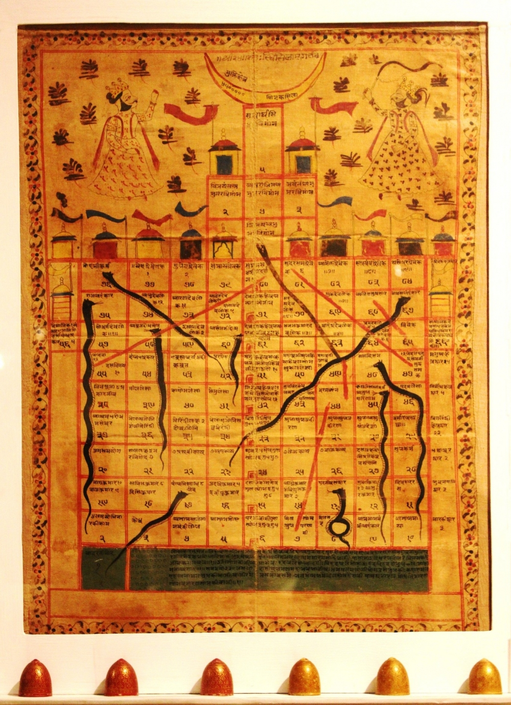 Fig.1. Jain gyan chaupar board dating back to late 18th century. Gyan chaupar was developed by Jain saints in the 13th century. (Courtesy: National Museum, New Delhi)