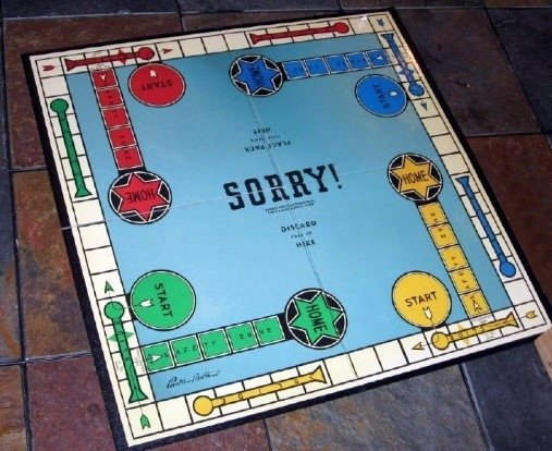 Fig.4. The game Pachisi was adapted into a popular US version such as 'Sorry!' (Courtesy: Wikimedia Commons)