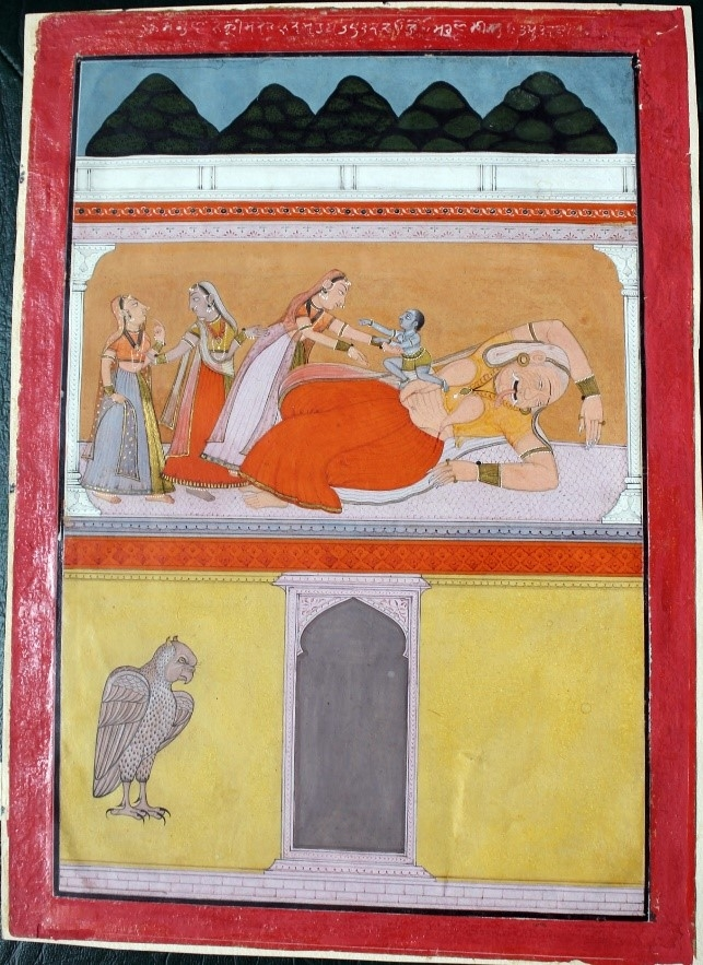Fig. 5. Krishna slaying Putana. School of Laharu, 1758. (Courtesy:Bhuri Singh Museum, Chamba)