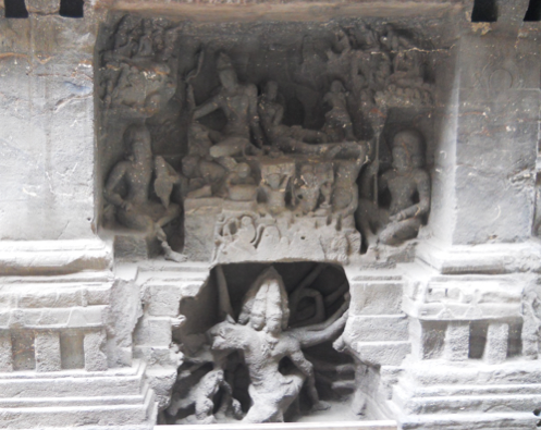 Fig.6.Ravananugraha, lower storey, south face, gudhamandapa. (Courtesy: Nikita Rathore)