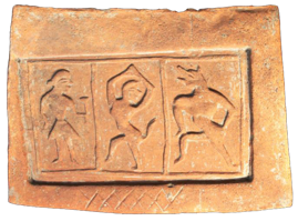 Fig. 7. Terracotta tile from Darad Kut in Huthmura (Courtesy: SPS Museum, Srinagar)