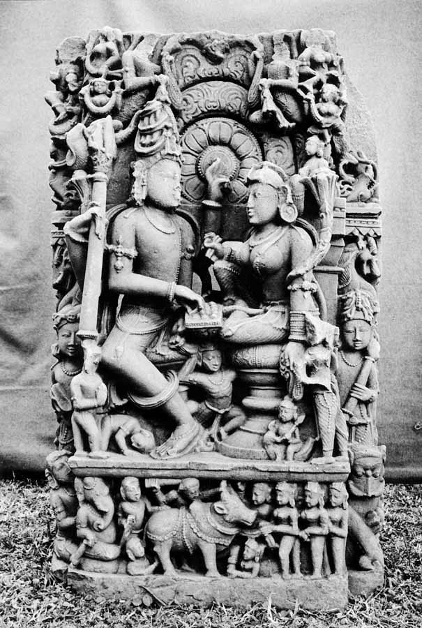 Fig.6. Relief of Shiv and Parvati playing a game of dice from 10th-century Madhya Pradesh, Rani Durgavati Museum, Jabalpur. (Courtesy: Digital South Asian Library, American Institute of Indian Studies, Gurgaon)