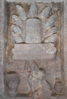 Fig.8. Ravana offering his head to Shiva, north gallery. (Courtesy: Nikita Rathore)