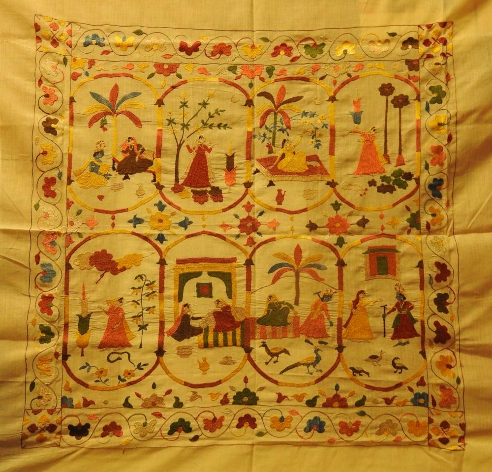 Fig. 9:Ashtanayika, 2019 by embroidery artists Pammi and Nisha, and Parikshit Sharma.