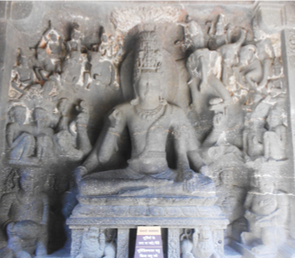 Fig.9.Mahayogi Shiva, lower storey, west face, guḍhamandapa. (Courtesy: Nikita Rathore)