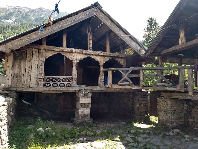 Fig. 13: One of the houses in the Bagori village showing resemblance to the house in Jadung Valley