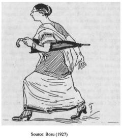 Figure6.The Lady Clerkby Benoy Kumar Bosu, published in 1927 (Courtesy: Dalia Chakraborty, 'The Cartoon of a Bengali Lady Clerk: A Repertoire of Sociological Data.')