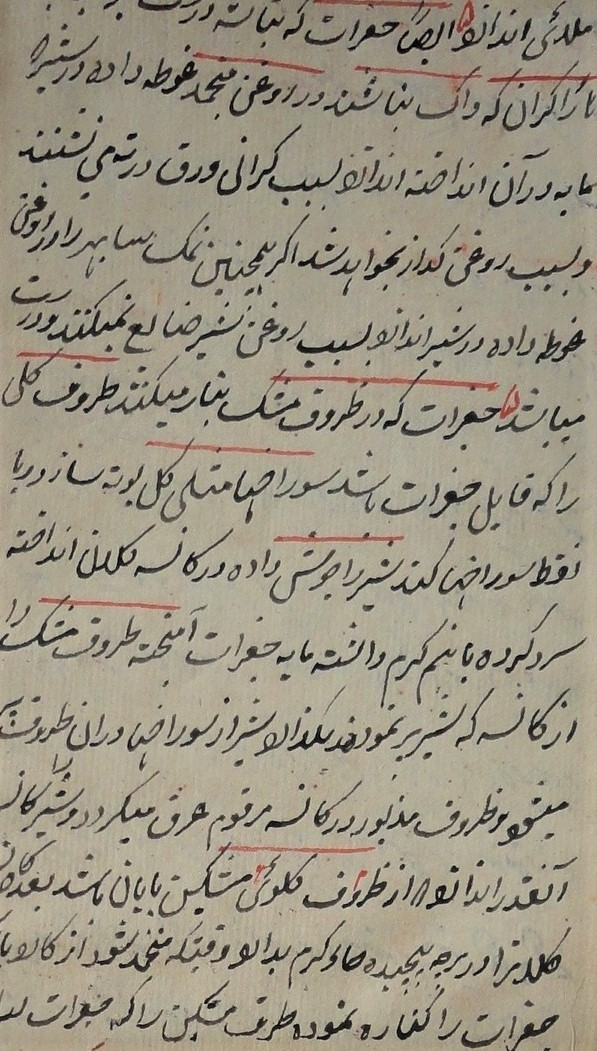 Fig.2. The early nineteenth-century recipe book, the Khwān Neʿmat was preserved only as a manuscript and was written in Persian. It is held today at the Salar Jung Museum Library. Courtesy: Amanda Lanzillo