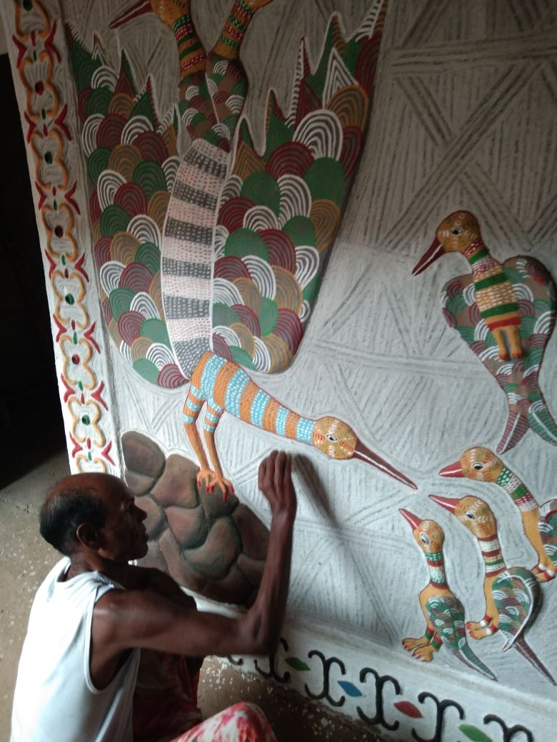 Pandit Ram working on lepai