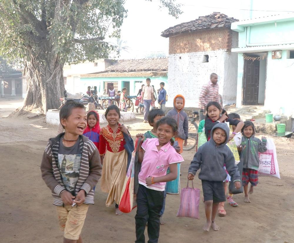 Children gathered to commence the Chheri Chhera festival
