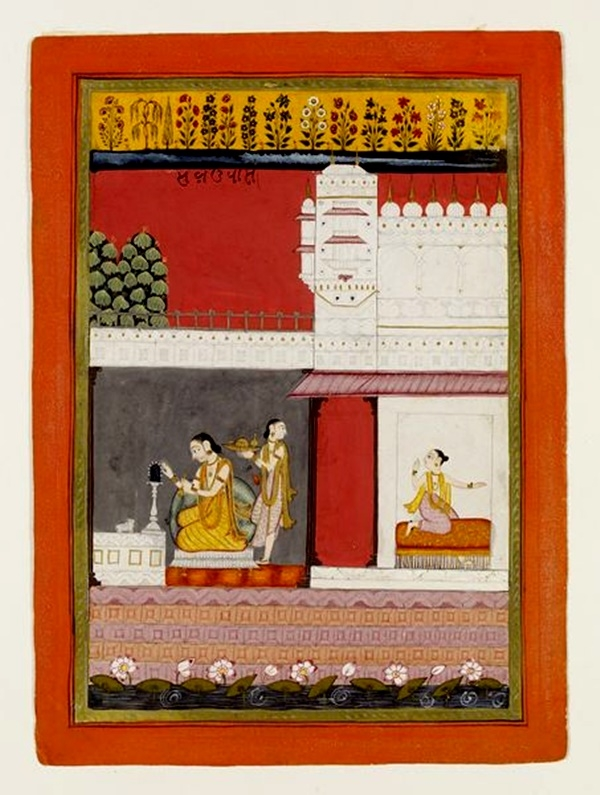 Kamodini Ragini, Kamodini Ragmala painting,  Courtesy: Victoria and Albert Museum, London