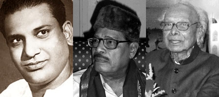 Khemchand Prakash, Manna Dey, Naushad, Courtesy: Wikimedia Commons