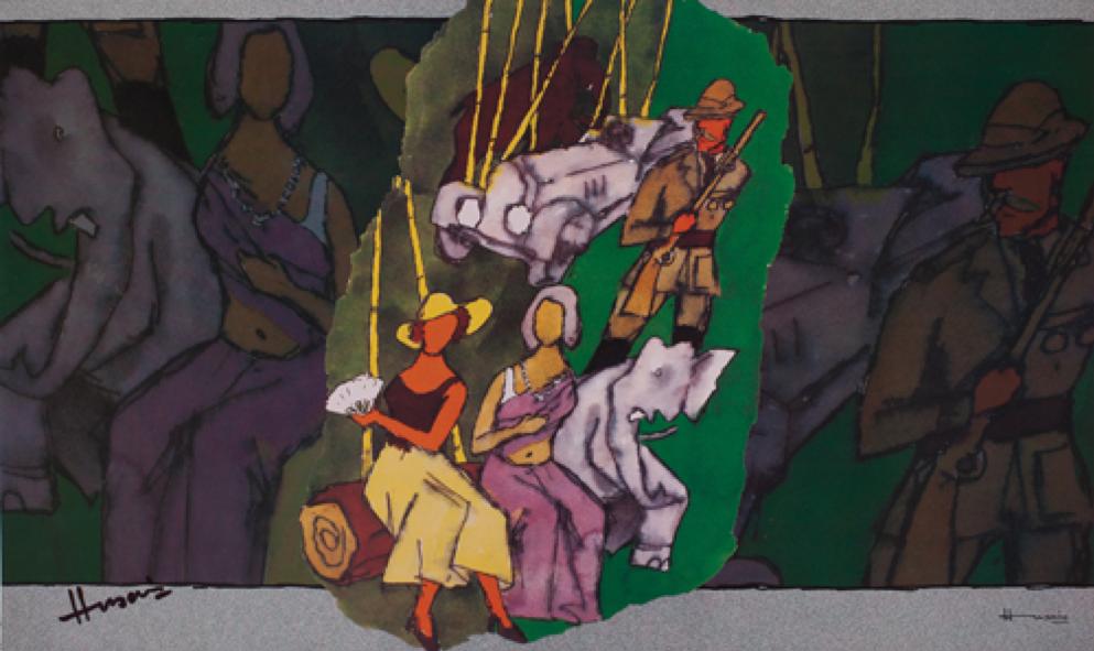 M.F. Hussain, digital print