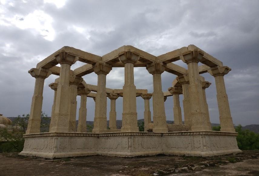 unfinished chhatri at maharaniyon ki chhatriyan, rajasthan, Photo: Chandni Chowdhary