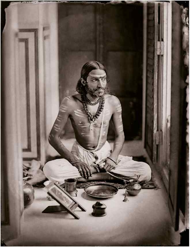 Maharaja Sawai Ram Singh II  Self-portrait as a Shiva bhakt, c 1870_Moving Still Performative Photography in India exhibition