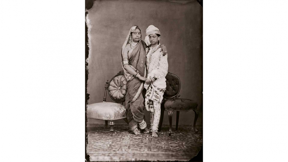 Maharaja Sawai Ram Singh II - Unidentified women of the zenana_Moving Still Performative Photography in India exhibition
