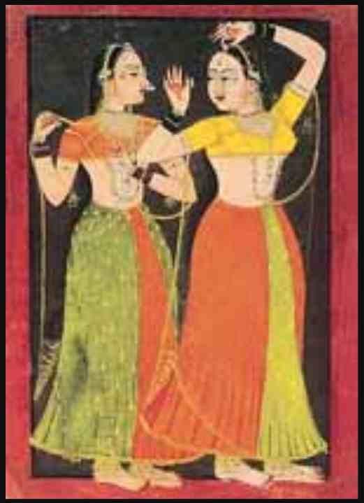 Nayika gazing into a thumb-ring mirror, Kotah, ca 1740_The Tribune