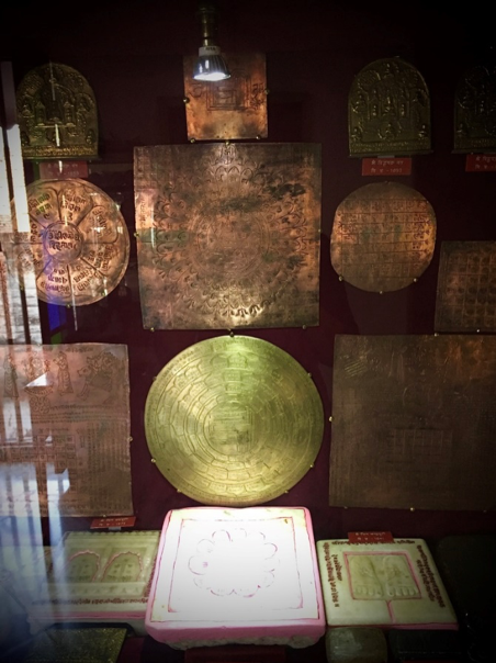 Fig. 15: Copper plates on display in Shri Shambhavnath temple, Jiaganj (Courtesy: Mrinalini Sil)