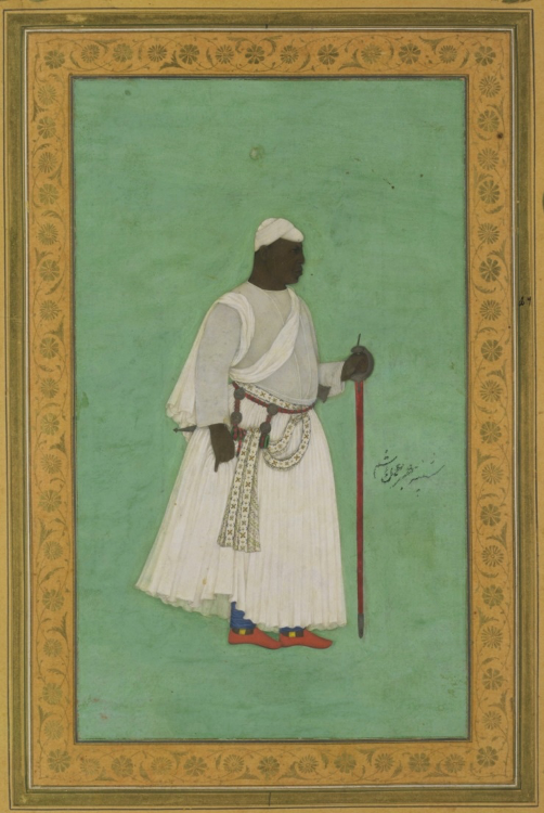 Fig. 1. Malik Ambar (pictured) is the most prominent example of a Siddi in India. He is best known for resisting Mughal encroachment into the Deccan (Courtesy: Victoria and Albert Museum; public domain)