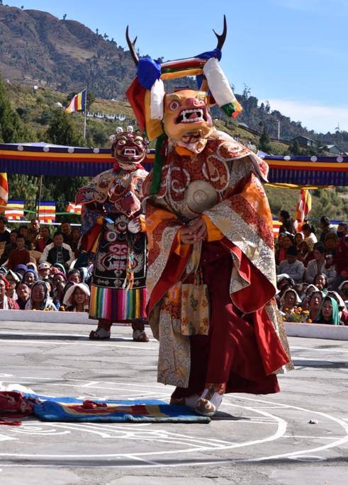 Fig. 6: Shawa cham or deer dance (Courtesy: Manash Pratim Borah)