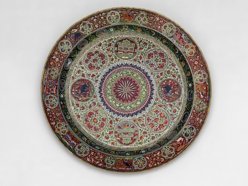 Plate c. 1870 - 1875, Gold and enamel, Ram Singh, Royal Collection Trust / © Her Majesty Queen Elizabeth II 2021