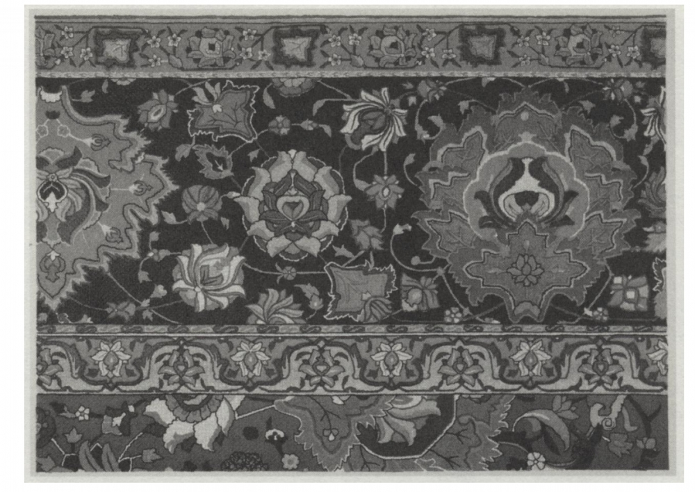 Plate from Thomas Holbein Hendleys 1905 book Asian Carpets_JSTOR