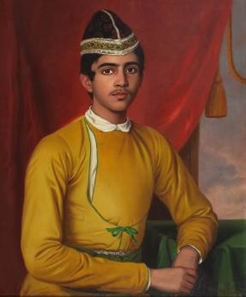 Untitled (Portrait of Bonsha Gopal Nandi) by Benjamin Hudson (Courtesy: DAG via Sahapedia.org)