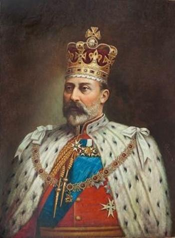 Untitled (King Edward VII) by J. Barton (Courtesy: DAG via Sahapedia.org)