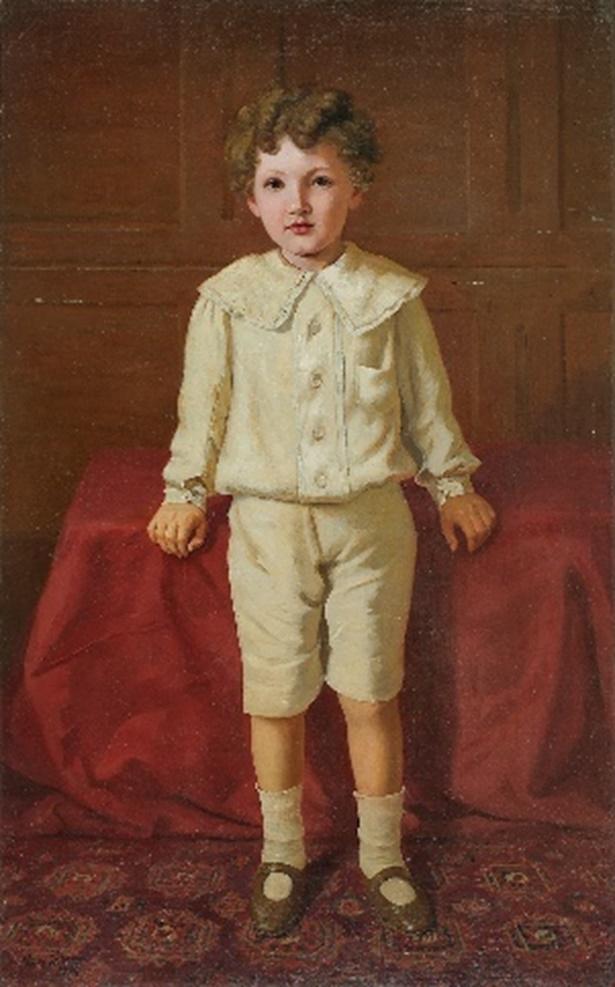 Untitled, a portrait of a European boy by Raja Ravi Varma (Courtesy: DAG via Sahapedia.org)