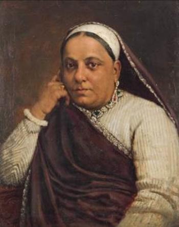 Untitled (Portrait of a Parsi Lady) by M.F. Pithawalla (Courtesy: DAG via Sahapedia.org)