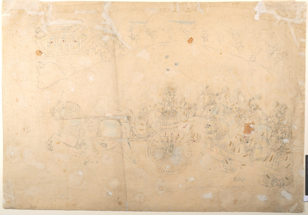 Preparatory Study for a Portrait of Man Singh and His Harem - 1810–15 - Rajasthan_MET Museum