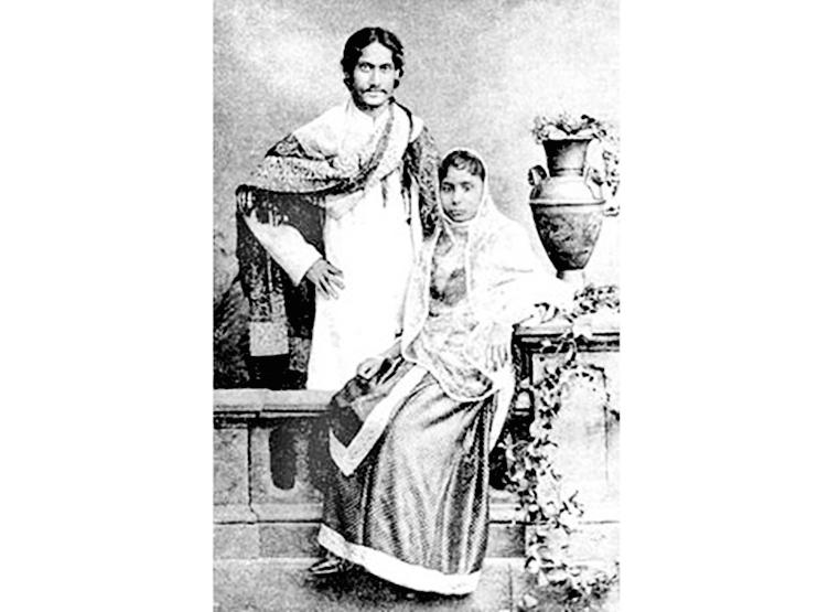 rabindranath tagore, rabindranath tagore wife, tagore wife mrinalini devi, 1883