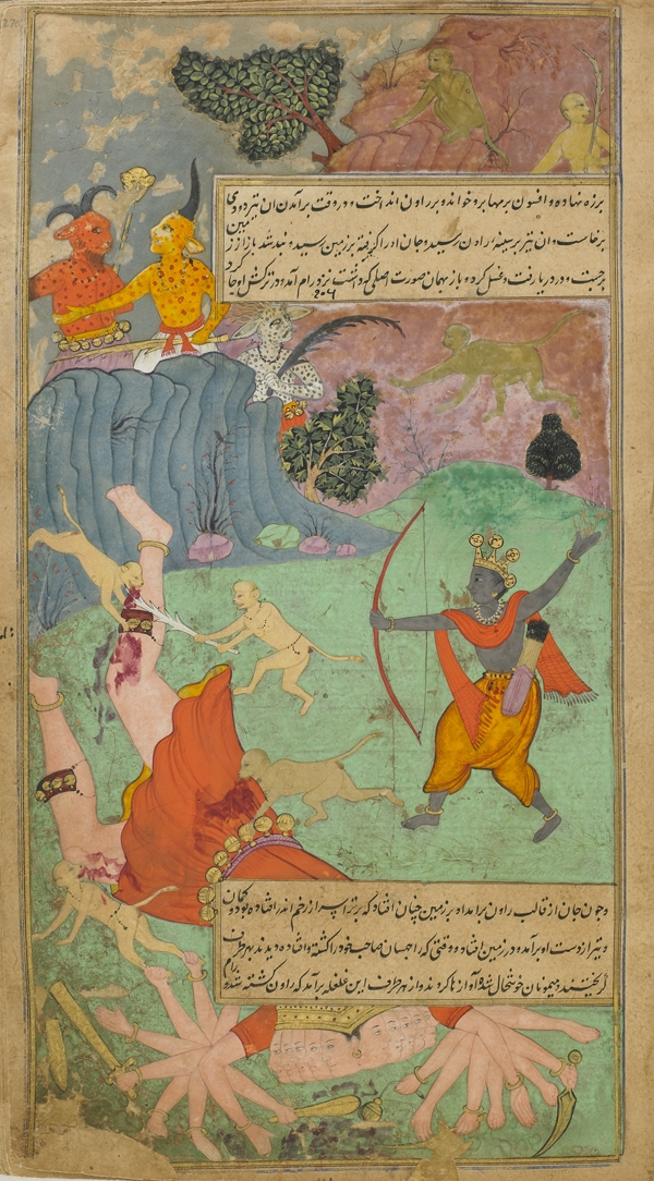 Rama slays Ravana - Mughal Ramayana_Fazl  - Indian, Mughal dynasty - Wikimedia Commons