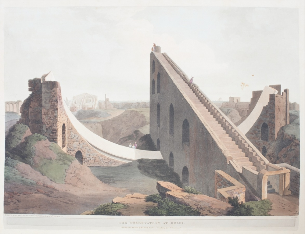 The Observatory at Delhi Drawn and engraved by Thomas & William Daniell, December 1808