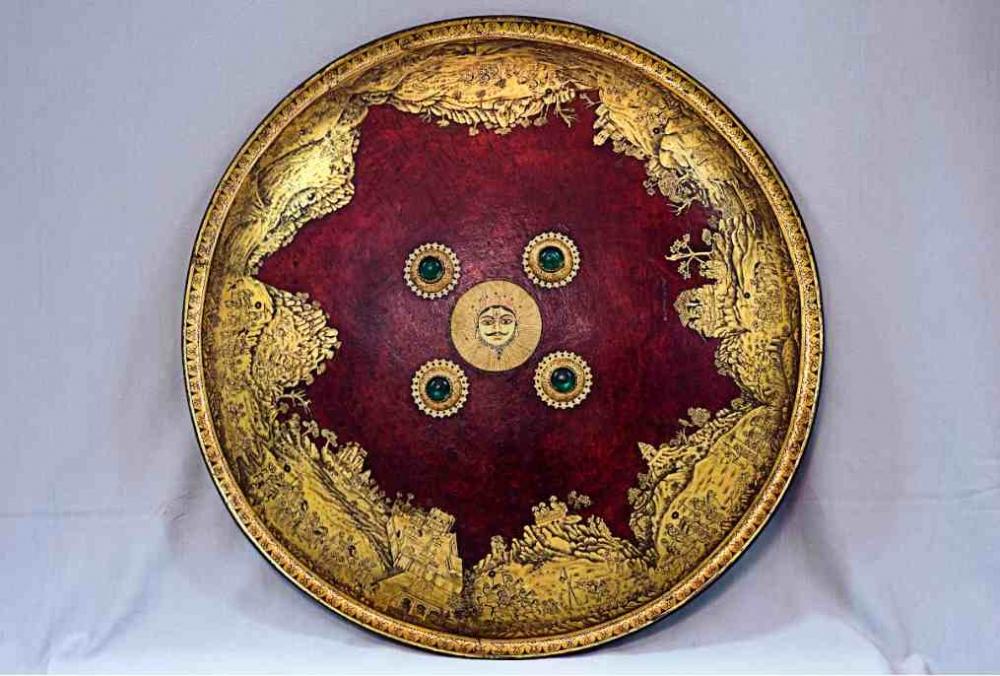 Shield of Maharana Sangram Singh II, Courtesy: National Museum