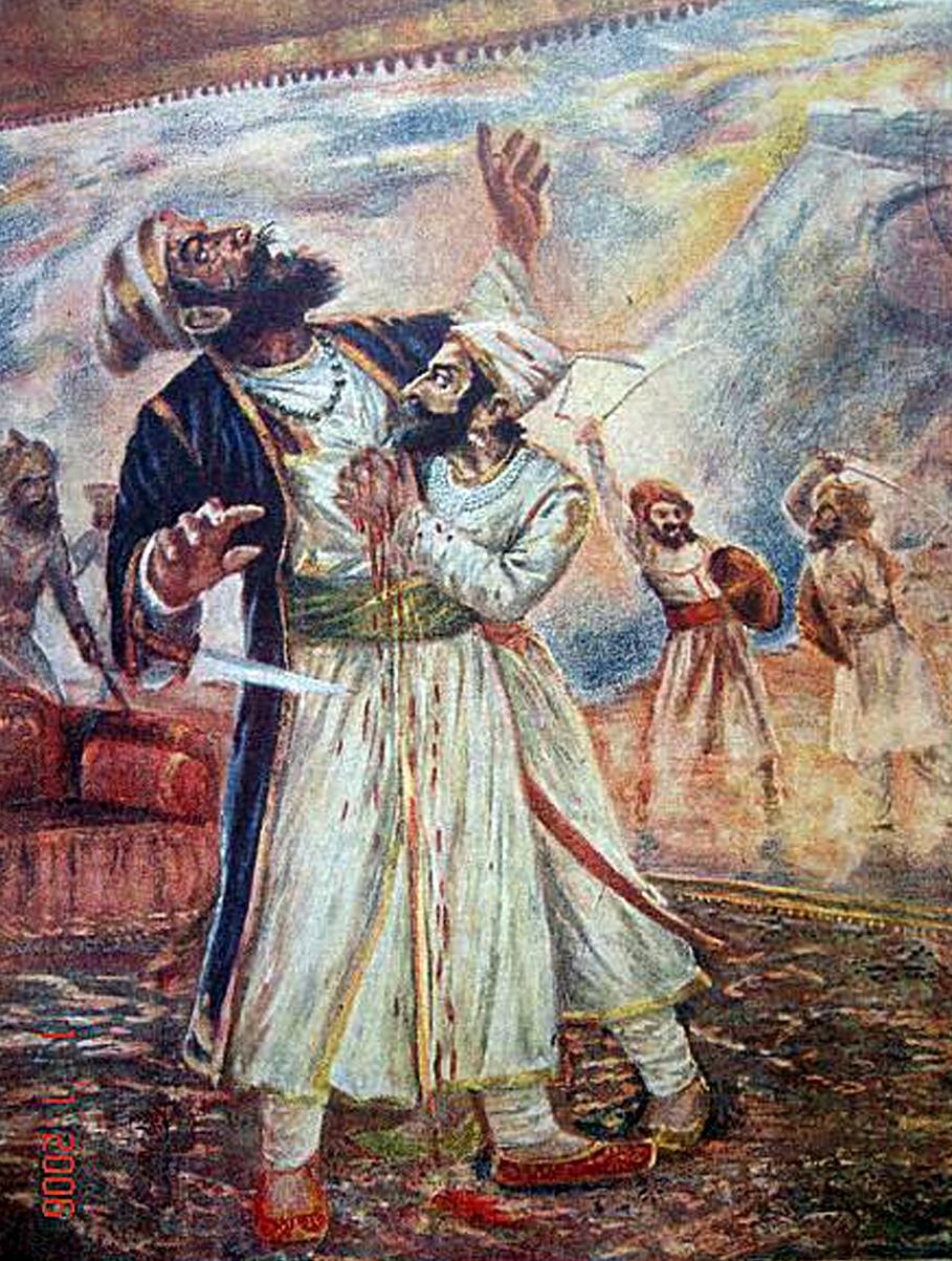 Shivaji and Afzal Khan at Pratapgad Fort