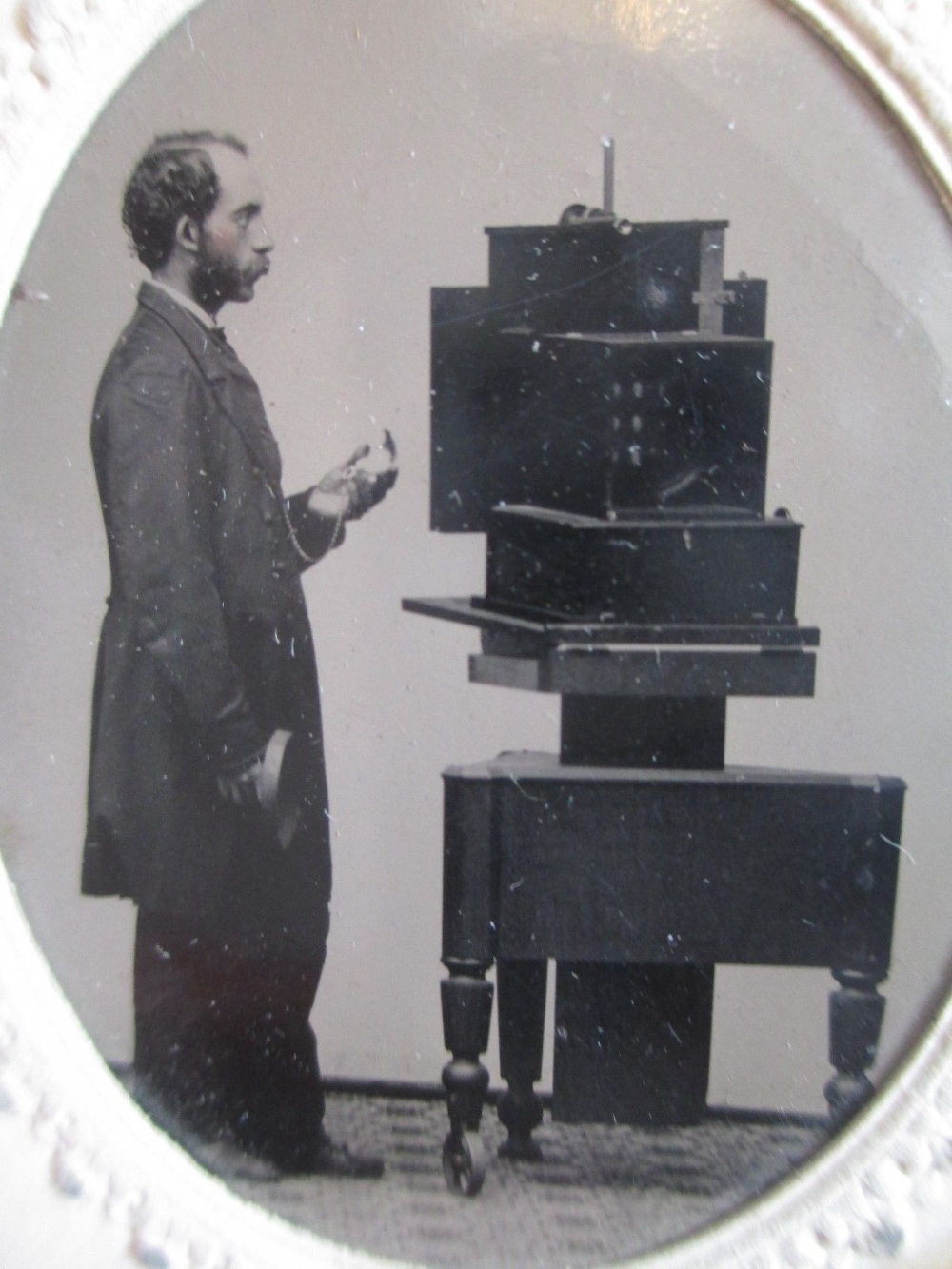 Simon Wing with a daguerreotype camera, c1860, Courtesy: Wikimedia Commons
