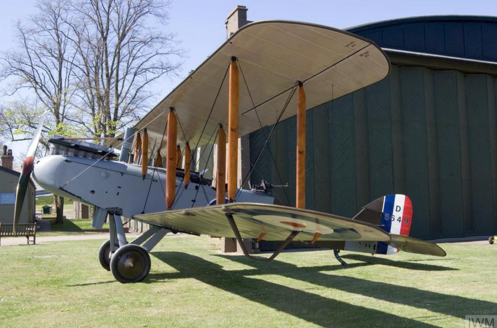 Single engine (Siddeley Deasy Puma) biplane, WW1 British bomber_IWM