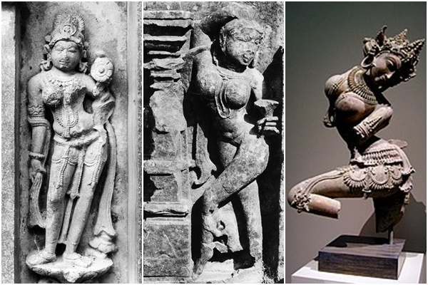 Surasundaris, alasyakanyas, temple architecture, Vinyasa, Padmagandha, nartaki